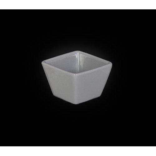 Емкость для соуса квадратная «Corone» 63 мм серая